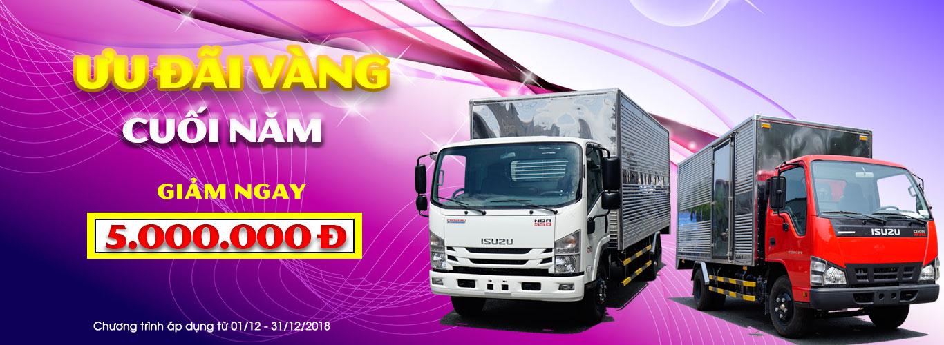 Ưu đãi vàng cuối năm - Giảm ngay 5 triệu đồng khi mua xe tải Isuzu Euro 4